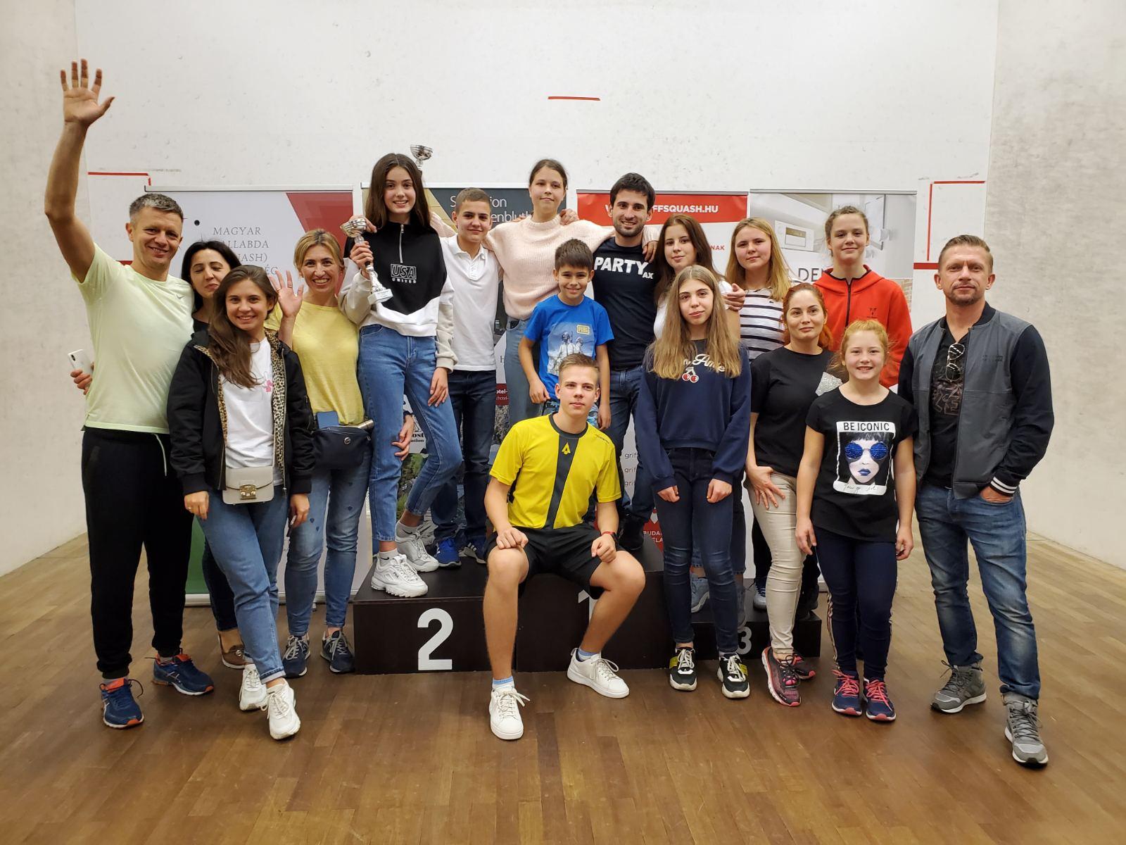 Украинские сквошистки Бегеба, Котова и Твердохлеб завоевали медали на турнире в Венгрии!