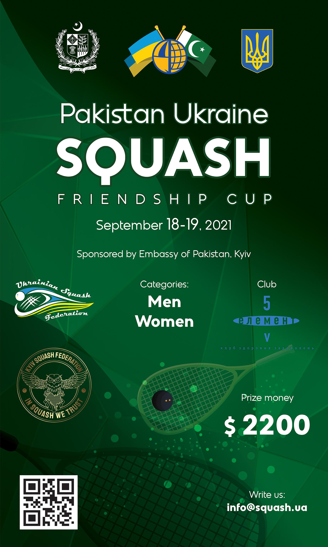 Pakistan Ukraine Squash Friendship Cup 2021